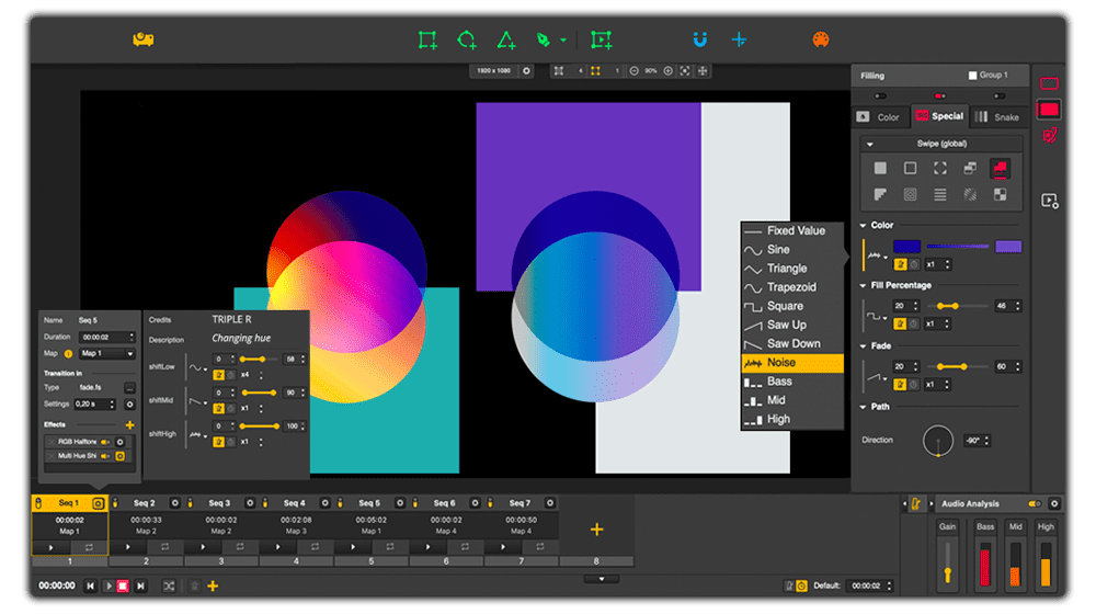 Projection mapping software - HeavyM interface